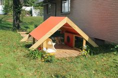 Modern A Frame Playhouse - modern - outdoor playsets - st louis - by PlyPlay Designs