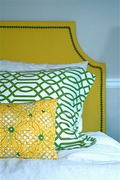 Bright yellow and kelly green