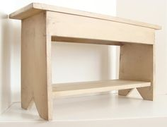 Bench for Seating Storage Below Kids Wood Bench by baconsquarefarm, $100.00
