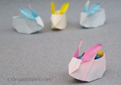 Bunny Origami: so cute at each place setting for Easter Dinner