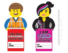 my kids will love these lego movie valentines! free at kiki and company.