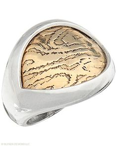 A #modern #masterpiece with a nod to #Mother #Earth. #Bronze, #Sterling #Silver. #Silpada #Jewelry #Ring