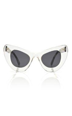 Illesteva for Zac Posen Two Tone Cat Eye Sunglasses