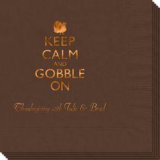 Keep Calm and Gobble On Napkins #StationeryStudio