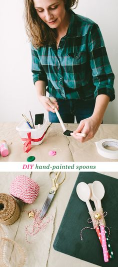 DIY Hand-Painted Spoons #ziploc #holidaycollection www.jojotastic.com