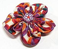 Flor FACIL de tela. Fabric flowers.