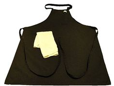 """Kitchen Apron made in the USA of pre-shrunk durable 100% certified organic cotton - For men, women and chefs - apron sports breast pocket for thermometer and towel loop to keep a towel near you when cooking - extra long ties to tie in front - comes in black and white- Washes easily - Does not shrink or bleed. Great for BBQ's or cooking in the kitchen. Measures 28"""" x 32"""" P&J Products http://www.amazon.com/dp/B00KB8K2EU/ref=cm_sw_r_pi_dp_O0tlub08AFYR0"""