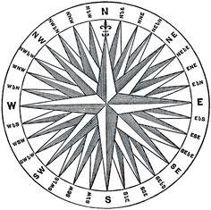 Vintage Compass Rose Image