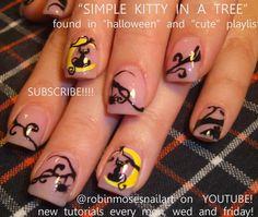 """Robin Moses Nail Art: """"halloween nails"""" """"halloween nail art"""" """"pink ghosts"""" """"Halloween cat"""" """"black cat design"""""""