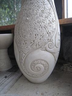 Anagama Pottery de Gyan Daniel Wall beautiful curls