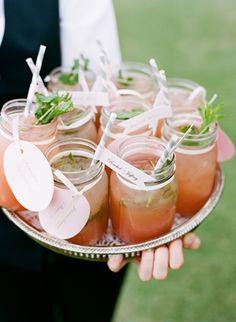 classic pink mason jars
