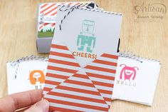 Freaky Friends 3x3 boxed cards ~ too cute ~ Susan Wong