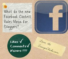 What the new facebook contest rules for bloggers really means. #socialmedia #blogging #tips