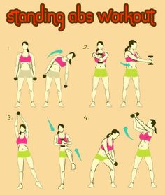 Standing Abs Workout #abs #workout #exercise