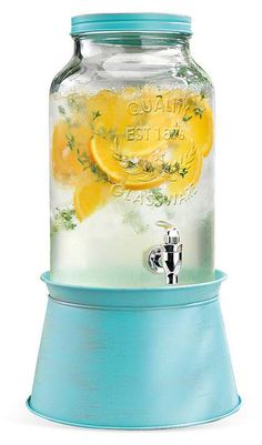 Blue Galvanized Drink Dispenser