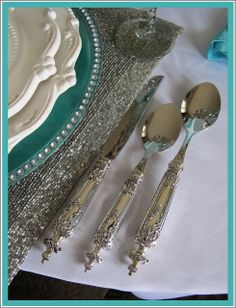 Blue and Silver TableScape.../