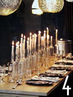Wine Bottle Tablescape