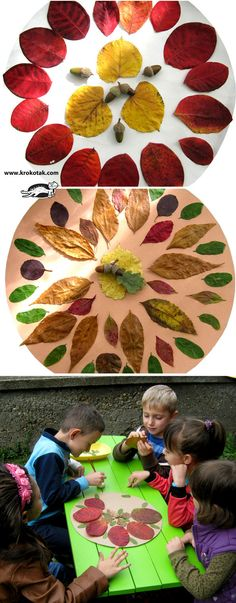Autumn mandalas