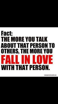 Falling in love fact