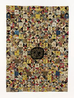 V English silk quilt, 1700: not 19th-century, but so amazing I had to include it!