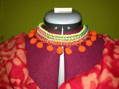 Cosas de Butterflies: Tutorial collar cadena y ratón flúor