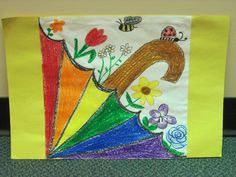 spring spectrum, spectrum umbrella, thema lent, lent knutselen, spring lent