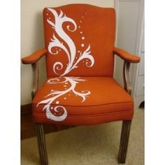 Painted chair decor, idea, paint chair, ordinari chair, painted chairs, craft projects, furnitur, diy, chair paint