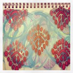 Loved this print from our Summer catalog so much it inspired us to keep going with another page in our art journal.