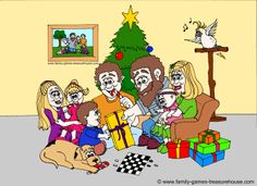 Christmas party games for families