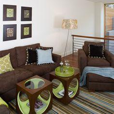 Burnt orange living room on pinterest living room for Burnt orange and brown living room ideas