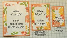 How to measure for Triple Layer Stamping Card