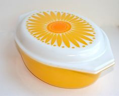 vintage Pyrex casserole I had this one but it broke. I still have 2 of this kind that I picked up at garage sales and use all the time! Just ordered one of these from Ebay