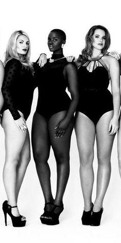 La beauté n'a pas de standards de taille, de poids ou de couleur! #plussizemodels