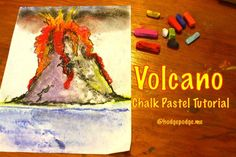 Download your free Volcano Chalk Pastel Tutorial at Hodgepodge - subscribe to receive this one + a new tutorial 4/12