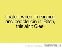 Can't a person sing in peace?