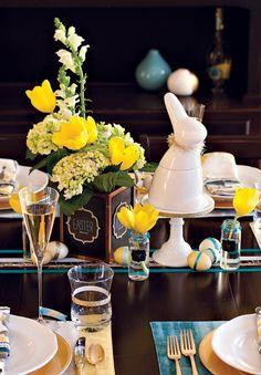 Easter Brunch Table Inspiration + Free Printables