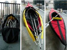 Portability clause to a kayak, made possible using Folbot Edisto's Folding kayak kit available for $1,795. The kayak takes about 10 minutes to assemble, weighs 24 pounds, measures 3 feet long (when assembled), 13 feet when detached, holds up to 210 pounds, with a cockpit size of 30-by-16 inches, and can be easily folded and put into its storage bag. Pretty simple…isn't it!