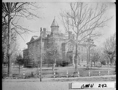 Lawrenceville, 1907. Gwinnett County Courthouse. The structure was built in 1885, and the clock tower was added in 1908.