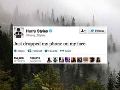 The 24 Deepest Harry Styles Tweets Of 2013>>>his tweets are awesome!!!!!>>> i love him <3 :)<<<< I love him a lot but he makes no sense but that's ok I don't think anyone cares