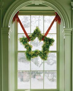 DIY: star-shaped wreath