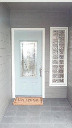 Colored front door