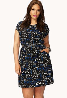 Eye-Catching Eyeglass Dress w/ Belt | FOREVER21 PLUS - 2054319013