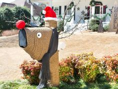 Treat your postal carrier to a joyful greeting with this mailbox dressed up as Santa's reindeer…designed by HGTV's @Daniel Grady Faires.  #HolidayHouse