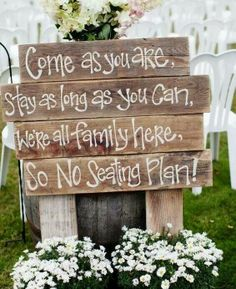 Wedding Signs on Pinterest