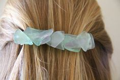 Seaglass barette or hair band