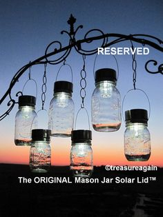 The ORIGINAL Mason Jar Solar Lid with Handles  by treasureagain  http://etsy.me/WFcIiO
