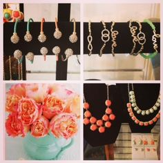 Just a sample of our latest jewelry in sorbet hues, coral + mint! #crystal #jewelry #bracelet #necklace #color #trend #coral #mint #sparkle #gifts #shop #local #staugustine #florida #stgeorgestreet