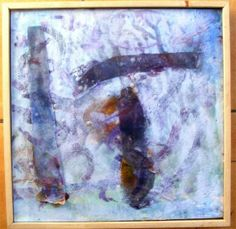 Encaustic Mixed Media Painting Traces SALE by artmixter on Etsy, £30.00