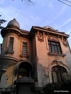 Beautiful abandoned house in downtown Bucharest, Romania.