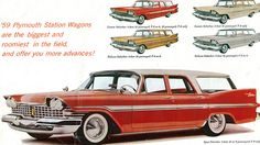 '59 Plymouth station wagons